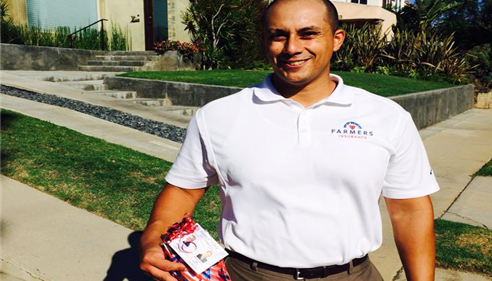 Andrew Chavez - <pre>Delivering 4th of July goodie bags</pre>
