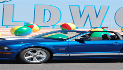 Allen Davis - <pre>My Shelby at the beach of the Wildwoods NJ</pre>