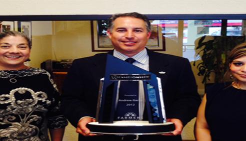Andrew Garza - <pre>Farmers® top 1 percent Championship Agency</pre>