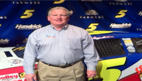 Amie Johnson - <pre>Farmers® is part of the Hendrick Racing Team. Larry Novak, 2011.</pre>