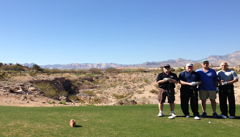 Amie Johnson - <pre>Larry and other Des Moines Agents in Vegas golfing, 2014.</pre>