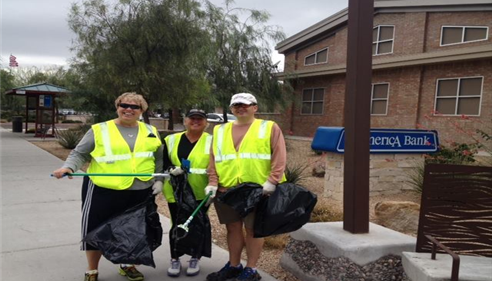 April Schaffroth - <pre>Our Agency volunteers with &quot;Keeping Scottsdale Beautiful&quot; in Scottsdale Arizona</pre>