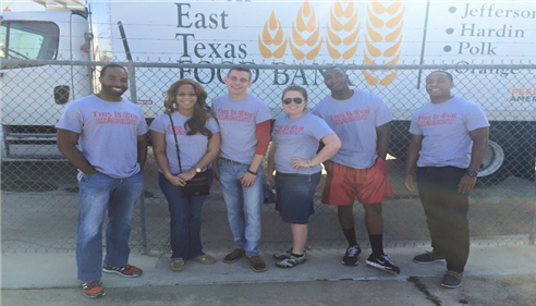 April Tolbert - <pre>Helping the South East Texas Food Bank.</pre>