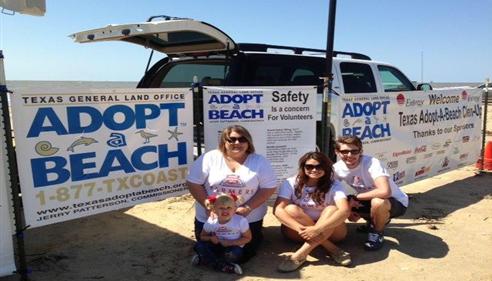 April Tolbert - <pre>Adopt-A-Beach Clean-up at McFaddin Beach.</pre>