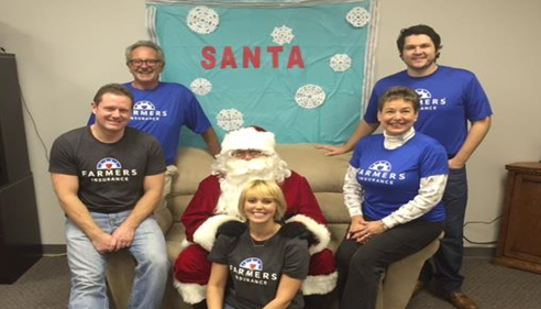 Allen Weaver - <pre>Our team with Santa at our Santa & Cookies Open House event!</pre>