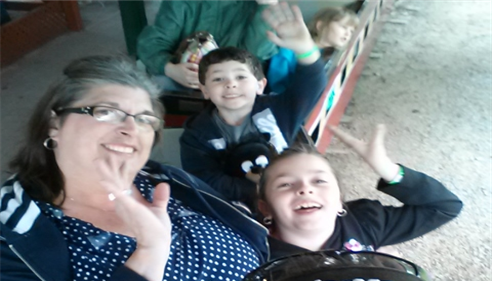 Brian Baker - <pre>The family riding the log flume at Knoebel&rsquo;s amusement park</pre>