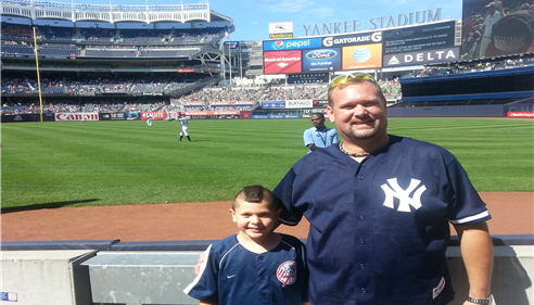 Brian Baker - <pre>At the Yankees game to see the Yankees and the Texas Rangers.  What a great day.</pre>