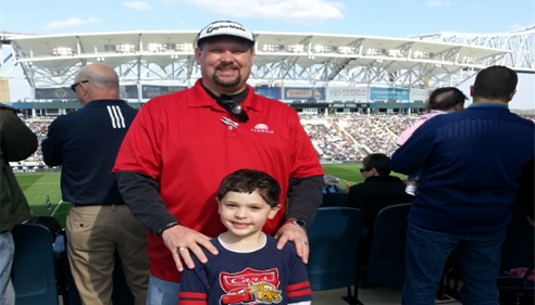 Brian Baker - <pre>My son Tyler & I at the Philadelphia Union Soccer match.</pre>