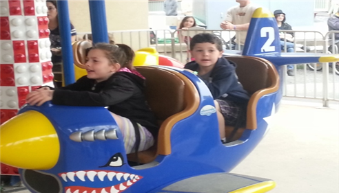 Brian Baker - <pre>My duaghter and son enjoying one of the many rides at Knoebels Amusement Park</pre>