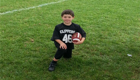 Brian Baker - <pre>My son Tyler in his flag football uniform</pre>