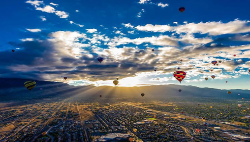 BARBARA FORT - <pre>Beautiful Albuquerque Balloon Fiesta!</pre>