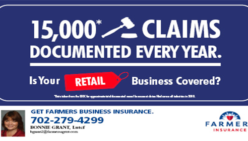 Bonnie Grant - <pre>Retail Business Insurance! Call us for a quote today!</pre>