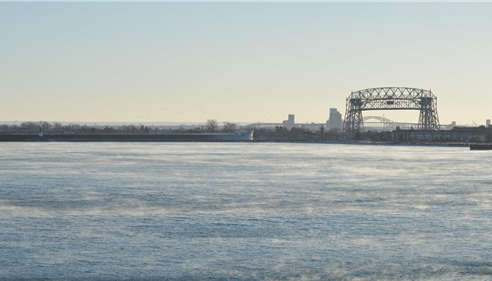 Bonnie Perkins - <pre>The view from our office of the Duluth lift bridge. Stop by and take a look!</pre>