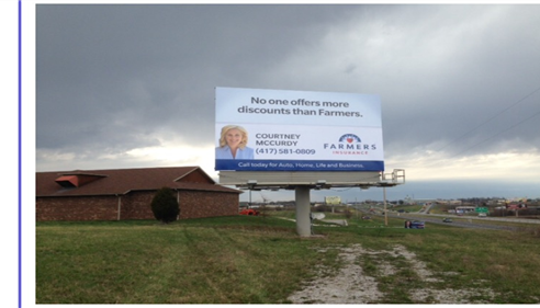 Courtney McCurdy - <pre>Check out our new billboard on 65 Highway!</pre>