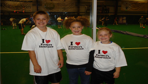 Debra Allbee - <pre>Dodgeball Tournament. Our little fans.</pre>