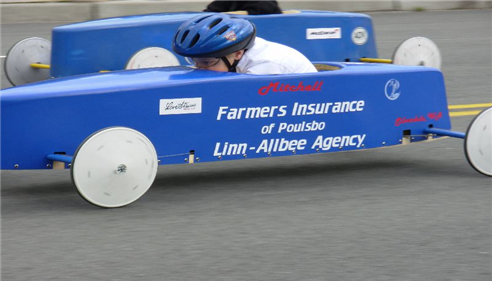 Debra Allbee - <pre>Our sponsored Soapbox Derby car driven by Mitchell.</pre>