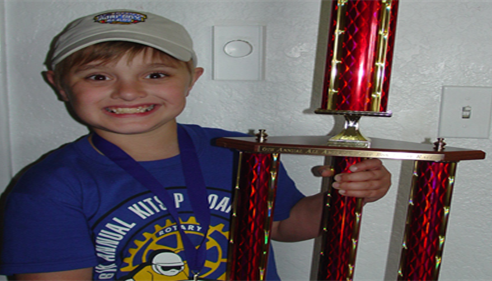 Debra Allbee - <pre>Giant 3rd place trophy for Mitchell, our soapbox derby driver!! Way to go!!!</pre>