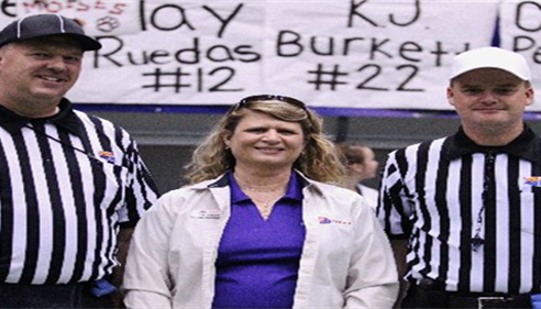 Deb Beckman - <pre>Helping the AIA refs with coin toss at State Championship Football Game at NAU!</pre>