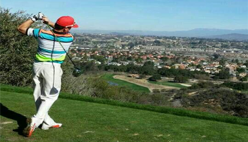 David Cook - <pre>Teeing off at Temecula Creek Inn</pre>