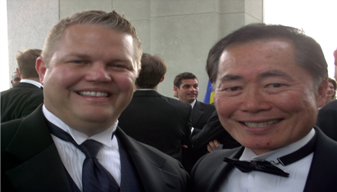 David Lorms - <pre>David Lorms with George Takei, Sulu from Star Trek.</pre>