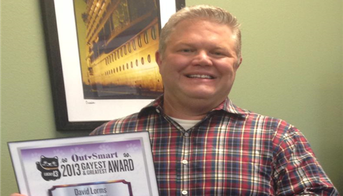 David Lorms - <pre>David Lorms, voted Best Male Insurance Agent by OutSmart Magazine.</pre>