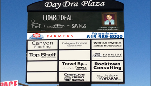 Dave Maynard - <pre>DayDra Plaza on the corner of Perryville Rd. and Riverside Blvd. Loves Park, IL.</pre>