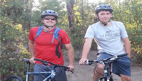 Darren Moll - <pre>Prescott has wonderful mountain bike trails.  My son and I out for a ride.</pre>