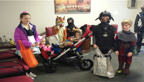 Eileen Mark - <pre>Our first trick or treaters to visit the office today! Halloween 2013</pre>