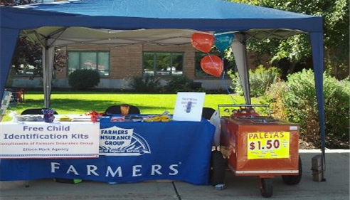 Eileen Mark - <pre>Booth at The Taste of Mt. Greenwood, Chicago,September, 2012</pre>
