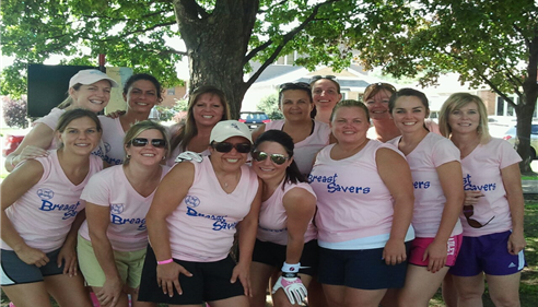 Eileen Mark - <pre>Y-Me Breast Cancer Softball Team 2012, sponsored by my agency</pre>