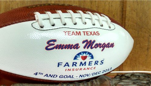 Emma Morgan - <pre>4th and Goal Award</pre>