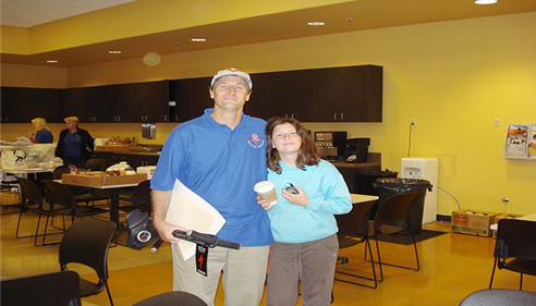 Greg Goodman - <pre>My daughter Michelle and I helping out at the I CARE CLASSIC.</pre>