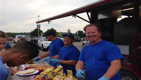 Gregory Olinger - <pre>Hubby&rsquo;s serving up the BBQ!</pre>