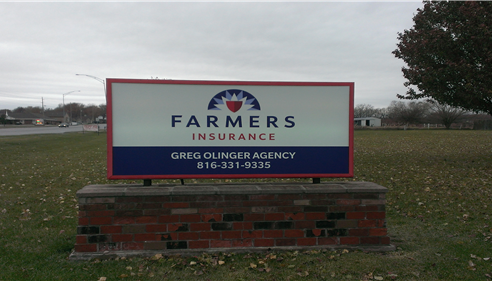 Gregory Olinger - <pre>Our second location in Raymore received their new sign!</pre>