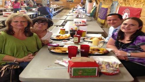Gerri Thompson - <pre>Training team enjoying lunch...Big Sandy style!</pre>