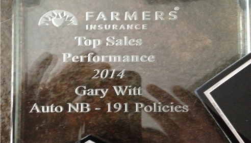 Gary Witt - <pre>Our District 95 Top Auto Sales Production for 2014. Thanks to all our Customers</pre>