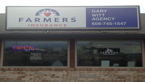 Gary Witt - <pre>Our New Farmers® Logo sign for the Gary Witt Agency</pre>