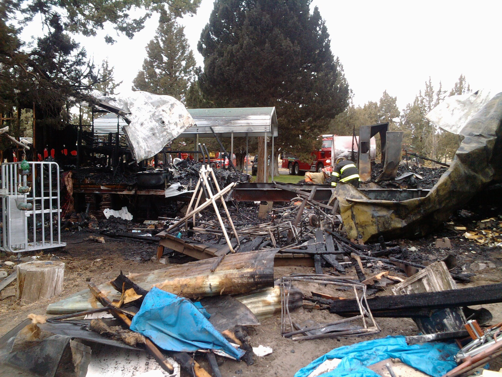 Our clients home burnt to the ground!