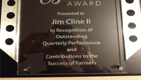 Jim Cline II - <pre>NEW BUSINESS AWARD FIRST QUARTER 2012</pre>