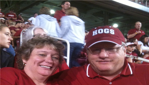 Jeffrey Danley - <pre>Wife Lisa and I at a Hog football game.</pre>
