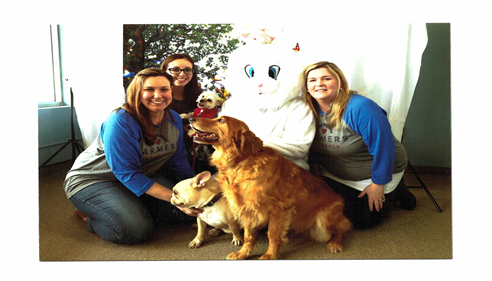 Jennifer Gregorski - <pre>Jen, Michele and Danielle and all of our dogs at the Easter Bunny fundraiser.</pre>