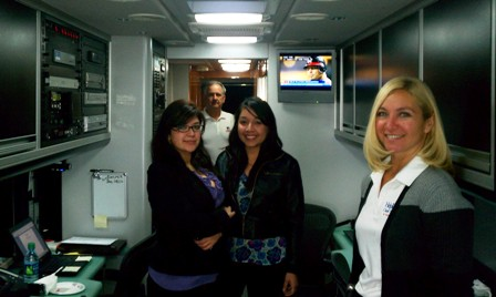 John Portaro - <pre>Rosario and Brenda in the Mobile Claims Center.</pre>