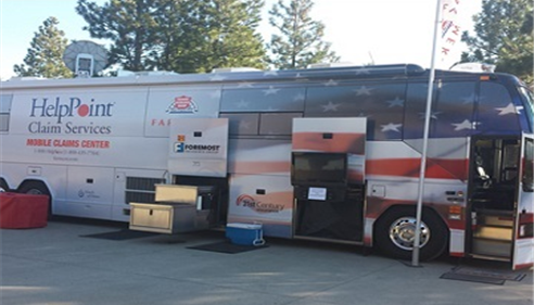 Jodi Strohm - <pre>Farmers® Insurance CAT Bus responds to national disasters all across the US</pre>