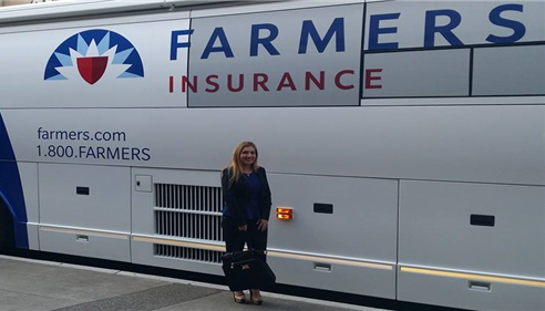 Jacklyn Yahiayan - <pre>Me front of our claims response buses in Sacramento for Legislative Conference.</pre>
