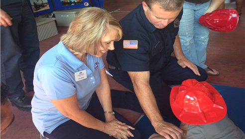 Kristine Avram - <pre>Learning CPR at the Firestation</pre>
