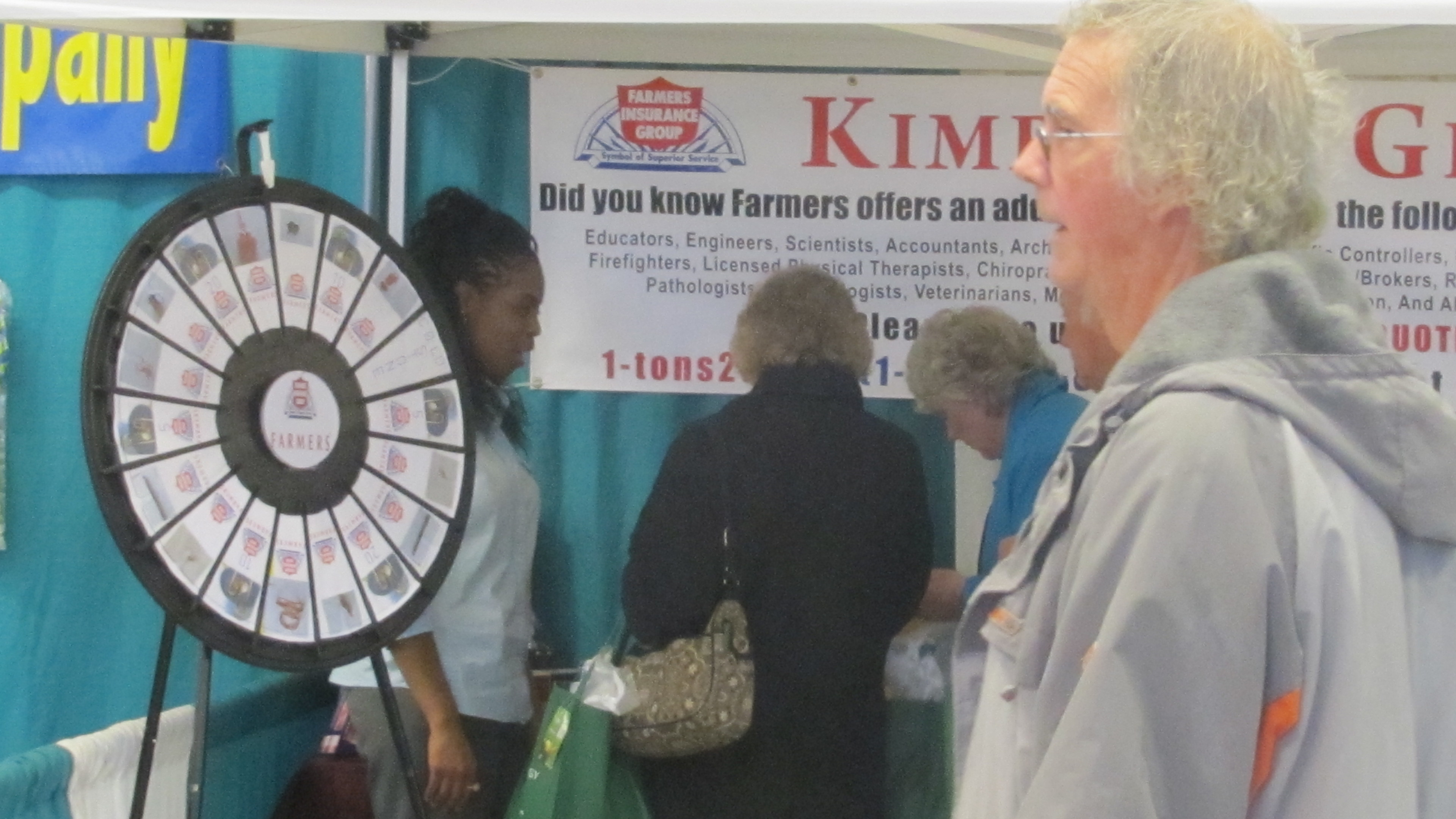 Farmers Spin Wheel of fun and prizes