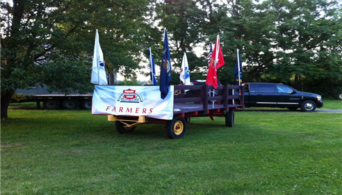Kathleen Underwood - <pre>Our Farmers® Float for the Columbus, NJ parade</pre>