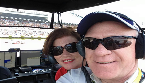 La Mont Hess - <pre>Kimberly and LaMont in the pit box during the race at Pocono 6/7/2015</pre>