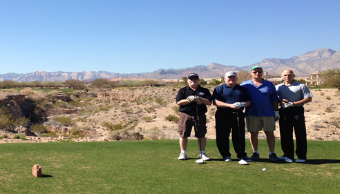 Larry Novak - <pre>Larry and other Des Moines Agents golfing in Vegas, 2014.</pre>
