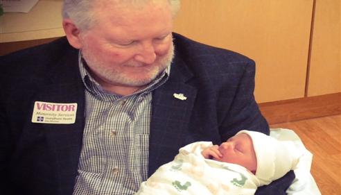 Larry Novak - <pre>Larry and newest grandson, Henry Novak. 2015</pre>